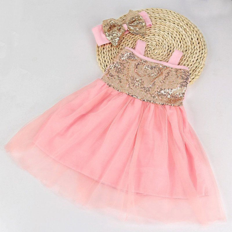 Toddler Girl Party Birthday Outfit Baby Sequin Princess