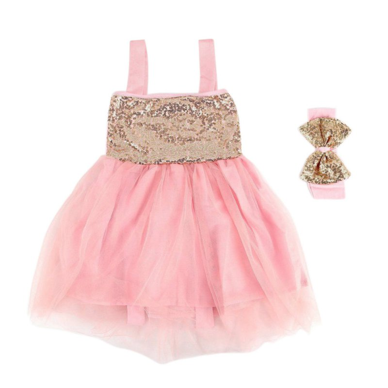 Baby Girls Party Outfit Sequin Princess Tutu Dress