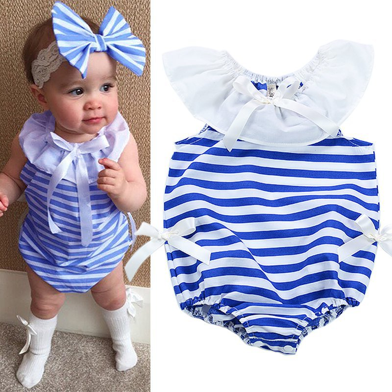 bf6e214bba96 Newborn Baby Girl Jumpsuit Toddler Infant Bodysuit Outfit Romper Clothes  0-24M