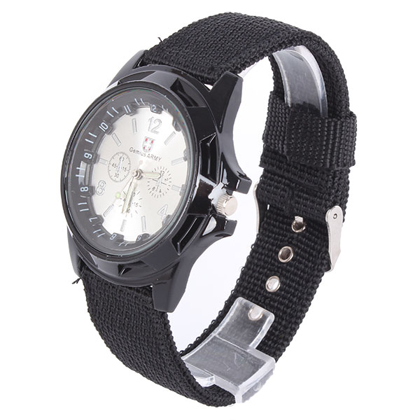 Mens Outdoors Bands: Stylish Mens Outdoor Sport Army Quartz Wrist Watch Nylon