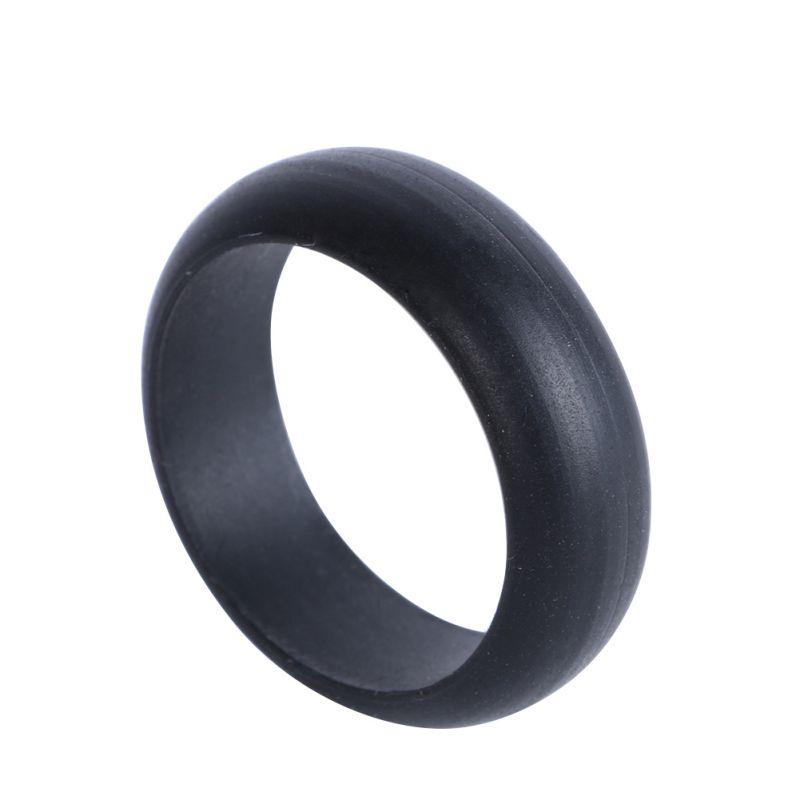 Rubber Wedding Rings For Men >> Silicone Wedding Band Rings Men Women Rubber Flexible Hypoallergenic Rubber Ring | eBay