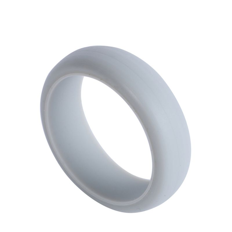 Silicone Wedding Soft Band Rings Men Women Flexible Hypoallergenic ...