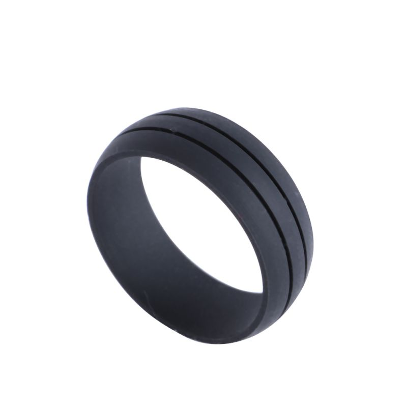 Rubber Wedding Rings For Men >> Flexible Silicone Rubber Wedding Band Ring Men Women Hypoallergenic Ring New | eBay