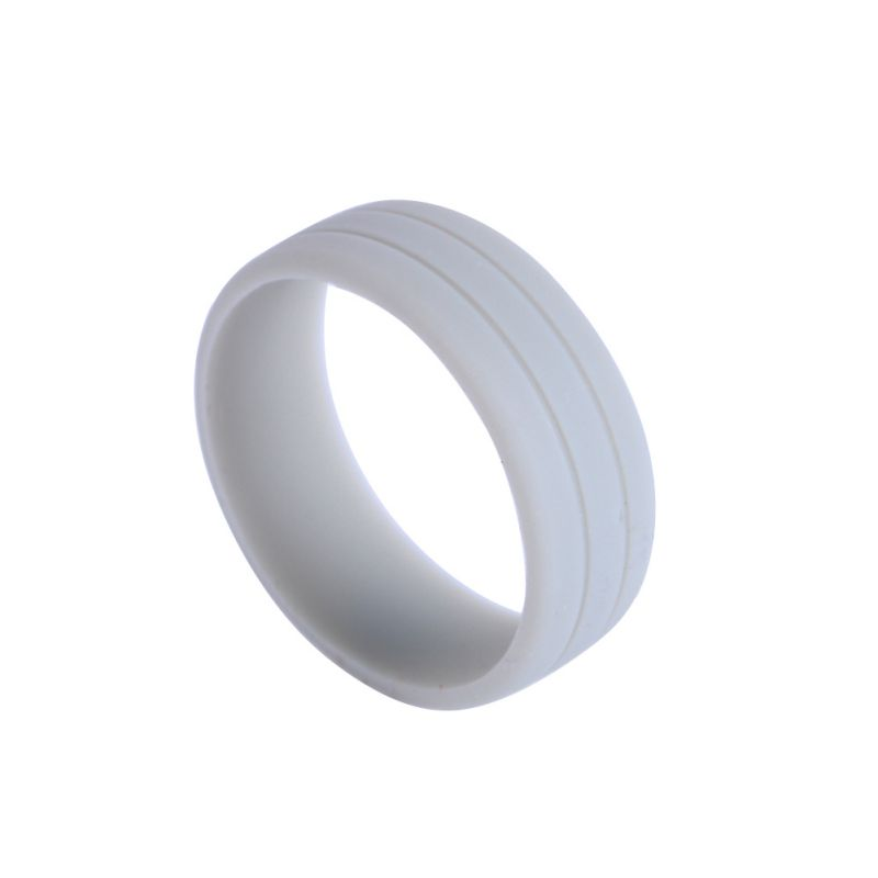 Hypoallergenic Wedding Rings: Flexible Silicone Rubber Wedding Band Ring Men Women