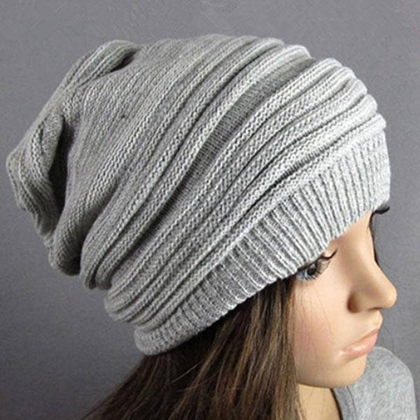 unisex knit baggy beret woolen hat knitted hat oversized