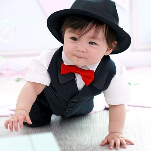 Product Features Matching Bow Tie and Suspenders Set for toddlers, baby boys and baby girls.