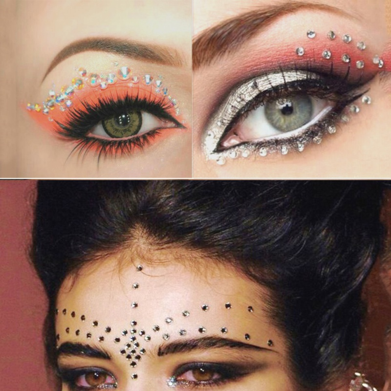 diy eye liner crystal eye tattoo eye makeup brush tattoo ForCrystal Eye Tattoos