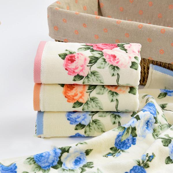 Flower Soft Cotton Towels Bathroom Wash Towel Washcloth Sports Beach Face Towel Ebay