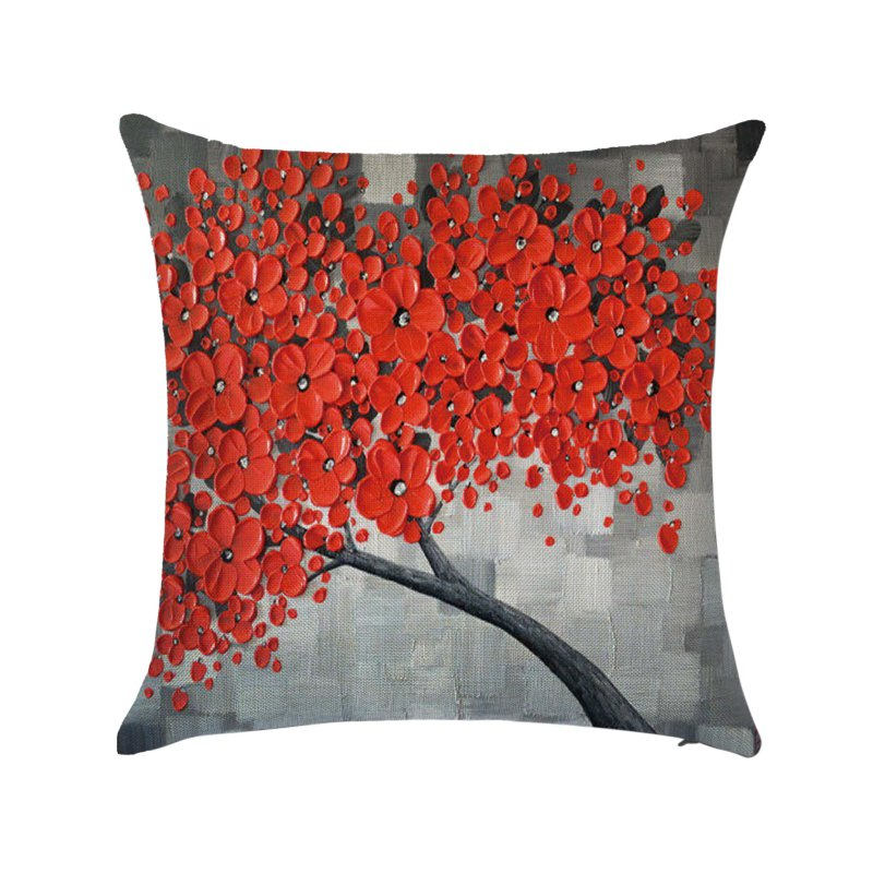 Throw Cushions On Bed : 1x Square Linen Cotton Throw Pillow Case Cover Cushion Home Bed Sofa Seat Decors eBay