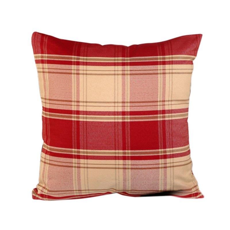 Retro Square Plaid Linen Cotton Throw Pillow Case Cushion Cover Home Sofa Decors eBay