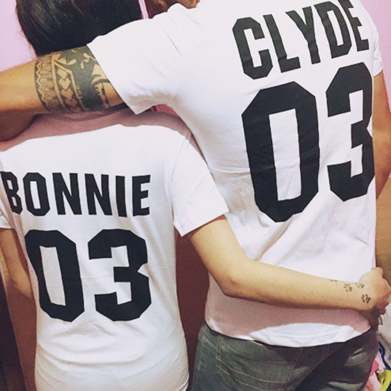 couple t shirt bonnie 03 and clyde 03 love matching shirts. Black Bedroom Furniture Sets. Home Design Ideas