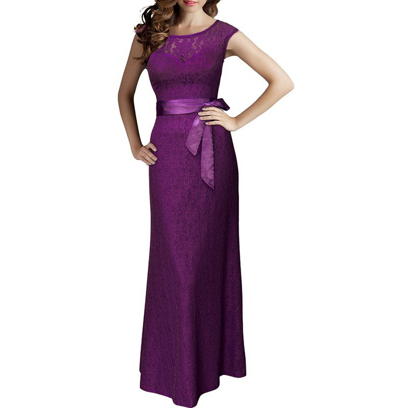 New pageant women gown prom evening formal party for Shoes for maxi dress wedding