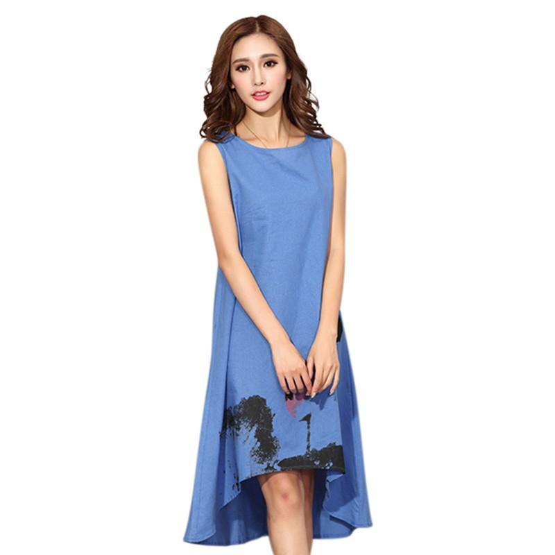 3b8aad908f6 800 x 800 www.ebay.com. Women Summer Linen Print Chinese Style Loose Long .