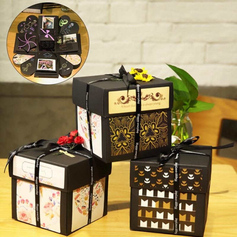 Überraschung Explosion Box DIY Fotoalbum Speicher Scrapbook Hochzeitsgeschenk DE
