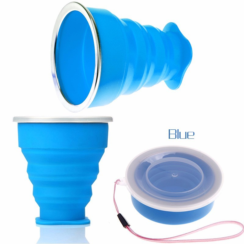 Portable Silicone Outdoor Foldable Cup Collapsible Drink Travel Mug Water Cup