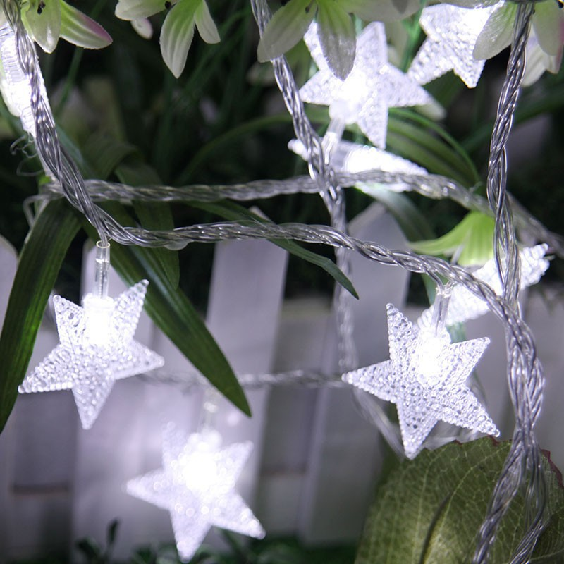 Christmas Xmas LED Star String Fairy Lights Wedding Party Battery Operated Decor