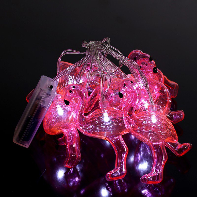 10 LED FLAMINGO FAIRY LIGHT NOVELTY LIGHTS INDOOR LED STRING PARTY CHAIN DECO eBay