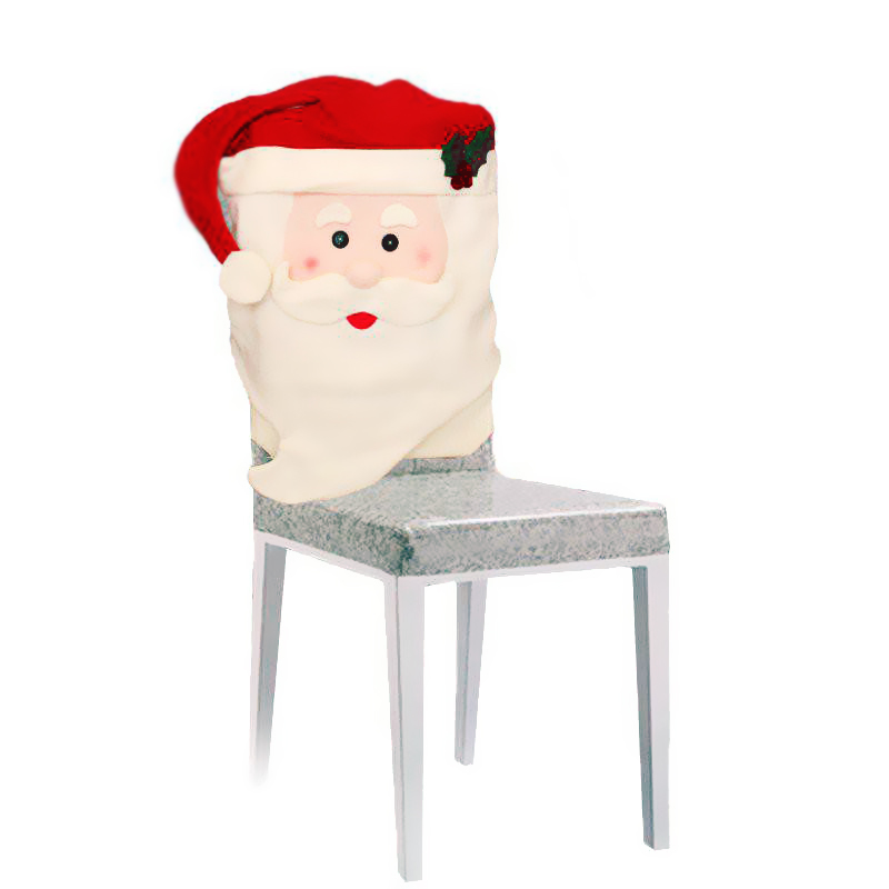 Christmas Santa Claus Chair Back Cover Case Dinner Party