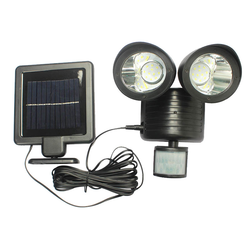 22 Led Floodlight Outdoor Dual Security Detector Solar