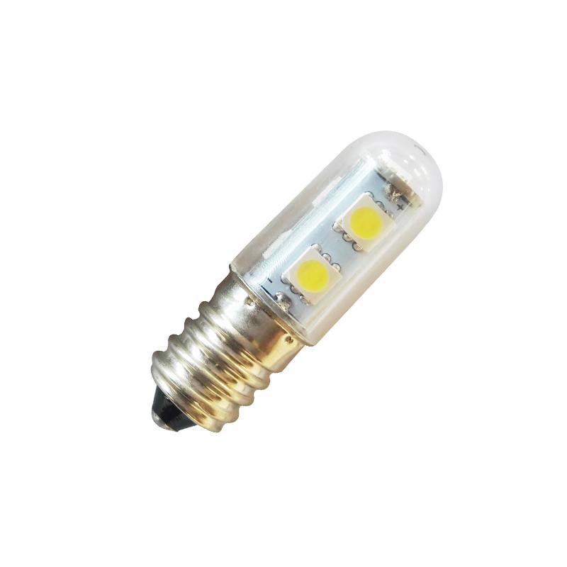 ac 220v e14 1w 7 led 5050 smd pure warm white home refrigerator light bulb lamp. Black Bedroom Furniture Sets. Home Design Ideas