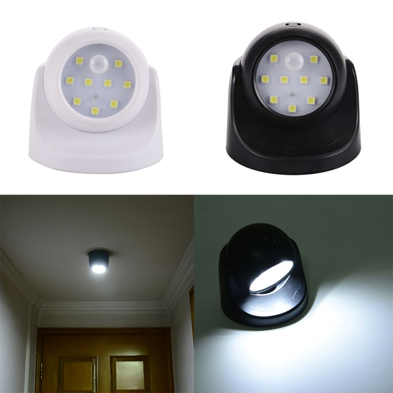 9 led motion sensor wireless light operated battery power sconce wall light lamp ebay. Black Bedroom Furniture Sets. Home Design Ideas