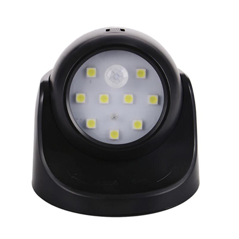 9 led wireless light operated motion sensor battery power sconce wall light lamp ebay. Black Bedroom Furniture Sets. Home Design Ideas