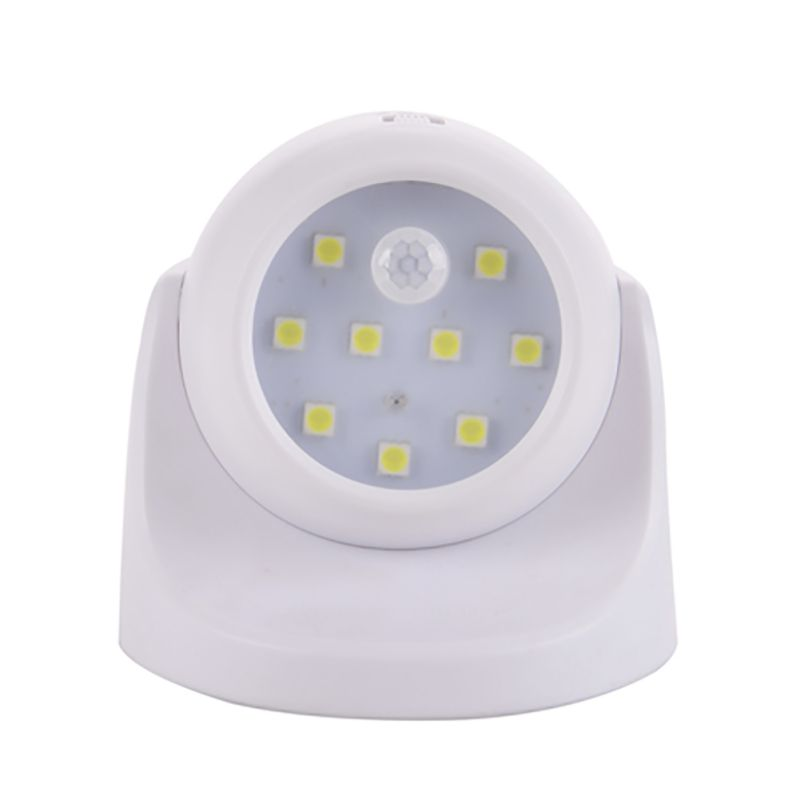 9 led motion sensor wireless light operated battery power sconce wall light ebay. Black Bedroom Furniture Sets. Home Design Ideas