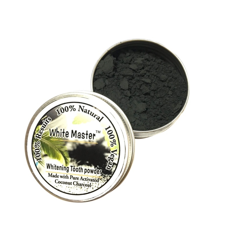 how to use charcoal tooth powder