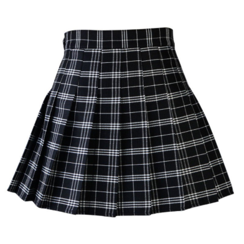 Women-Pleated-Skirt-Summer-School-High-Waist-Skirt-Short-Mini-Plaid-Skirt-Dress