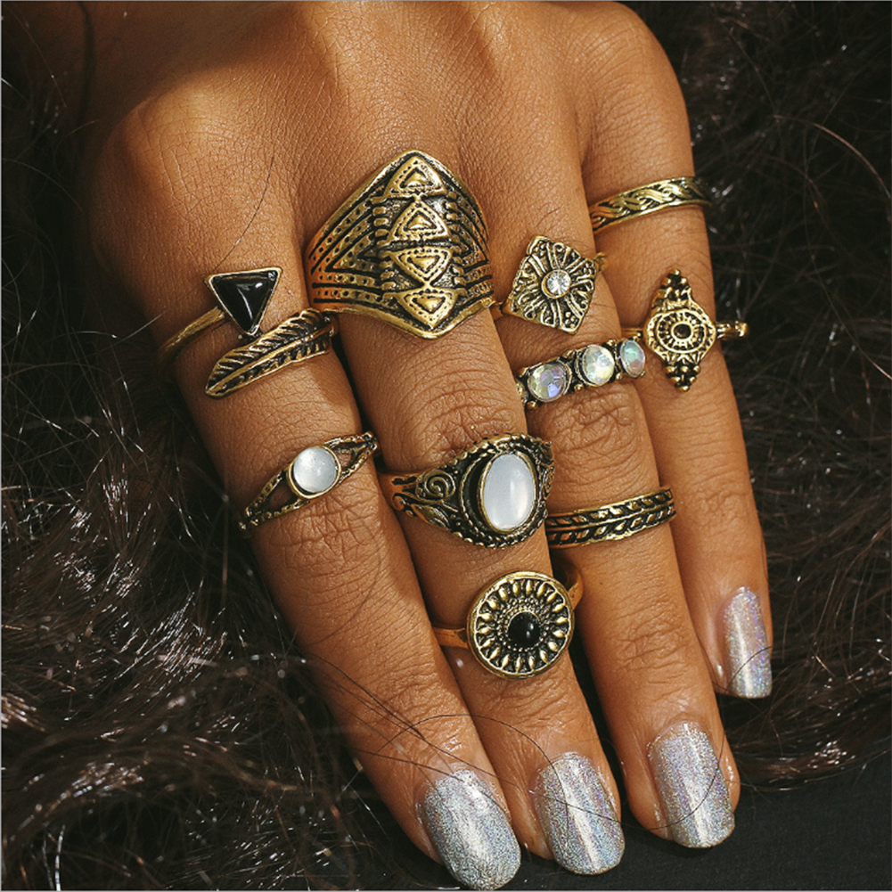 12PCS-Boho-Silver-Gold-Stack-Plain-Above-Knuckle-Ring-Midi-Finger-Rings-Set-Gift thumbnail 15