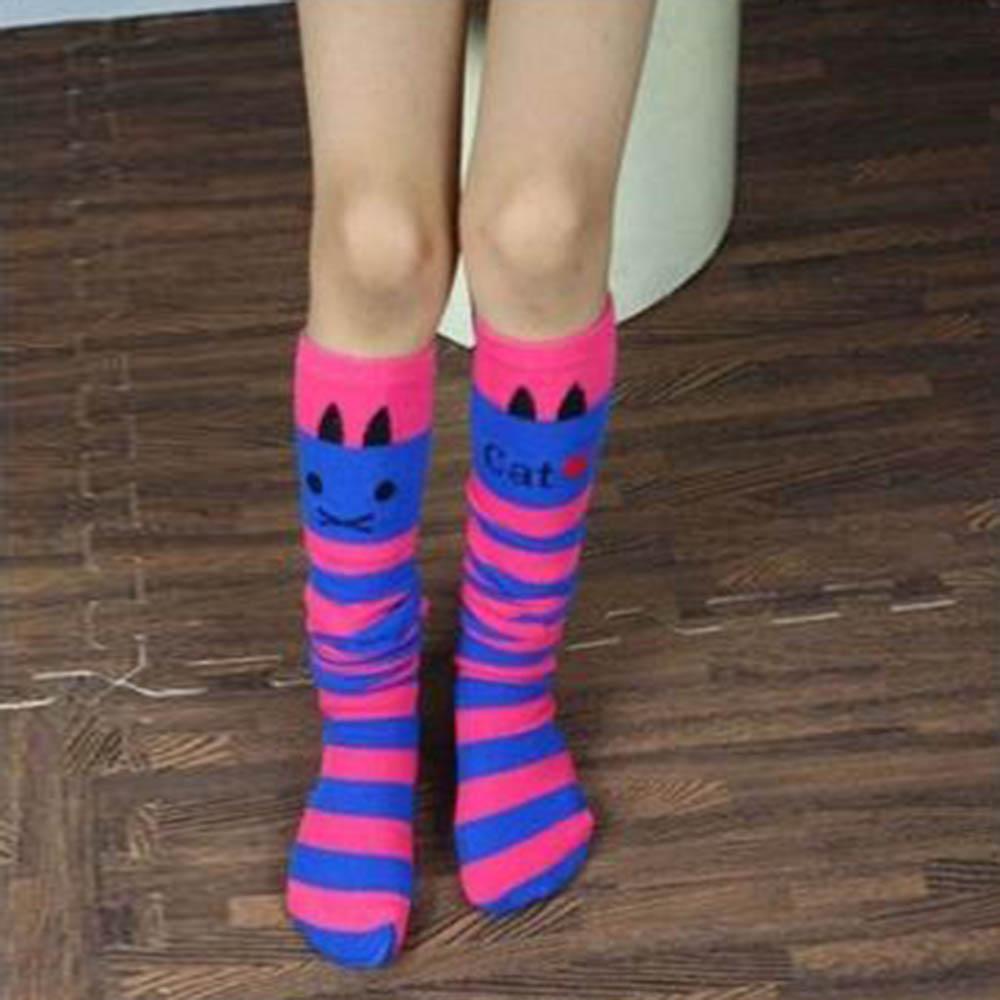 Flexible girls in knee high socks