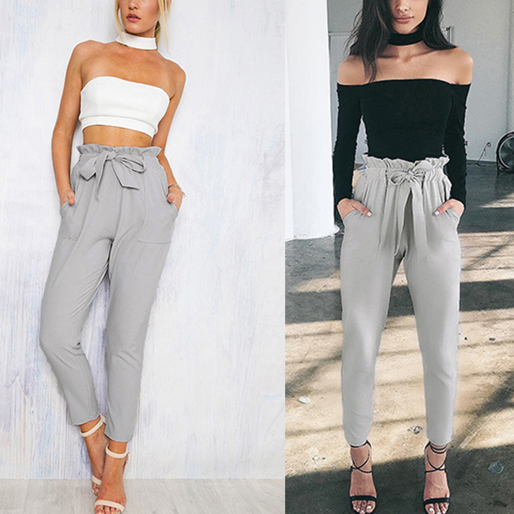 Cropped Pants Fashion Womens