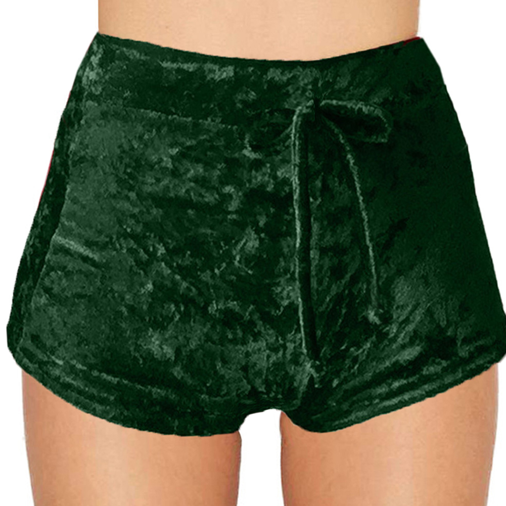 Women Winter Autumn Crushed Velvet High Waist Boxers Hot ...