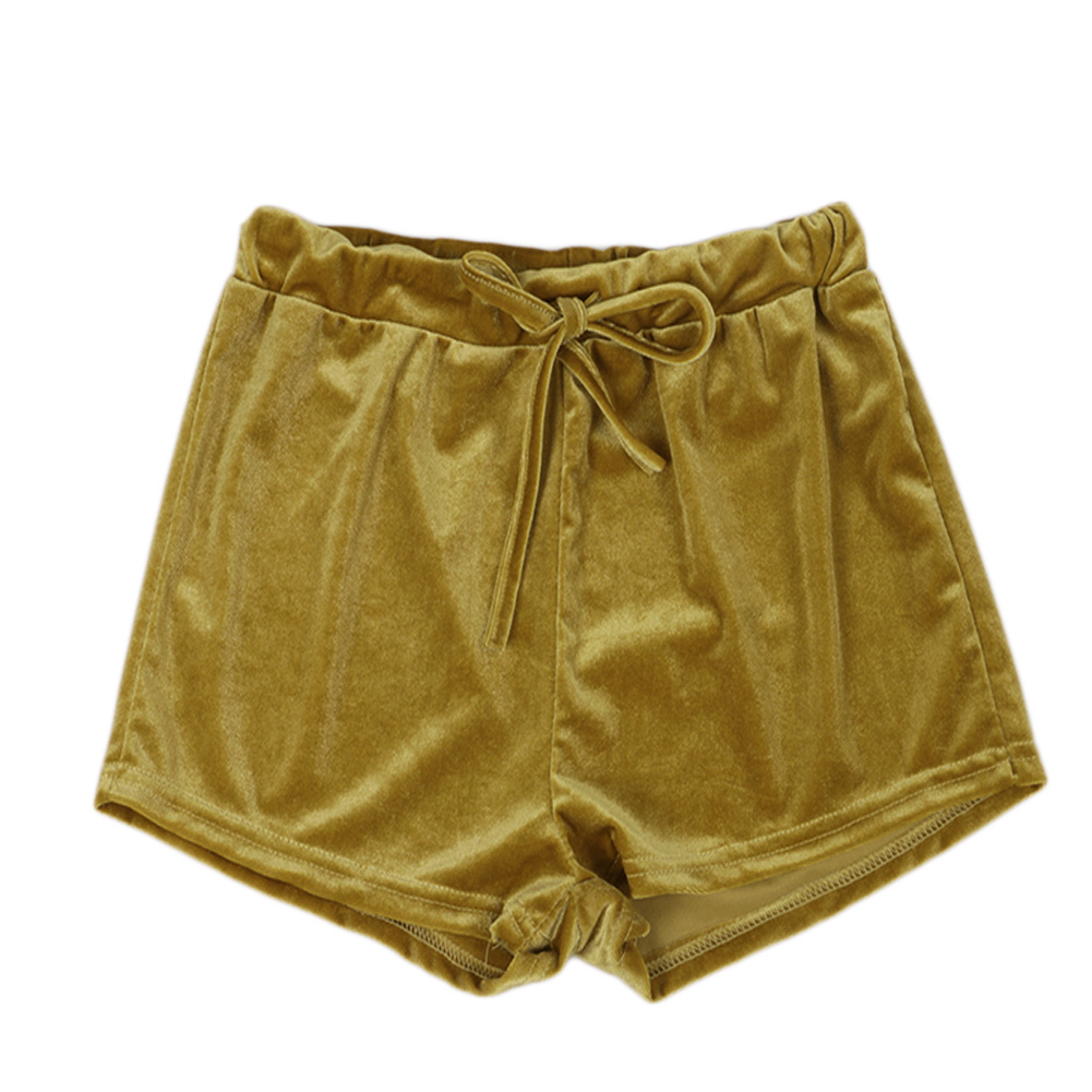 Casual Fashion Women Ladies Crushed Velvet Runner Shorts High ...