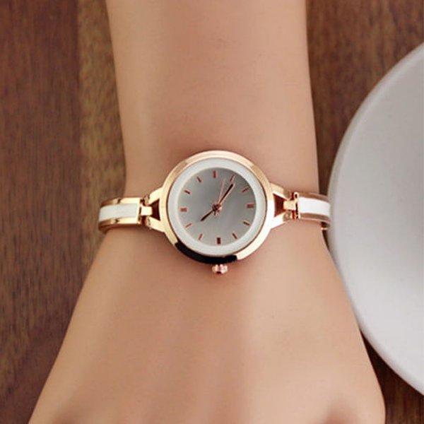 Fashion-new-Women-039-s-Watch-Gold-Silver-Quartz-Bracelet-Wrist-Watch-Armbanduhr