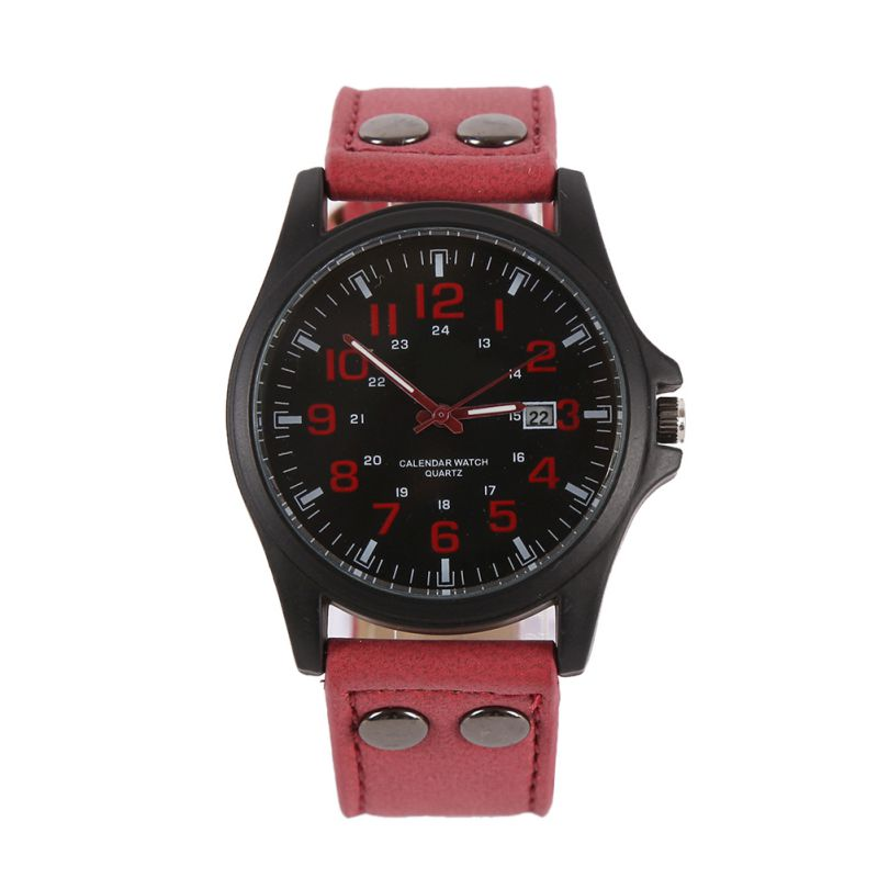 mens fashion sport watches men military leather band