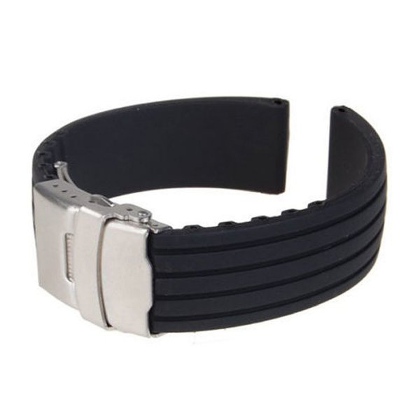 Men-Military-Silicone-Rubber-Deployment-Buckle-Watch-Strap-Band-Replacement