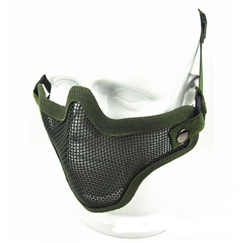 Tactical-Army-Camouflage-Half-Face-Mask-Strike-Mesh-Protector-Maschera-Tattica