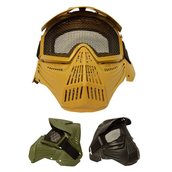 AU Airsoft Paintball Game Hunting Biker Full Face Protect Gear Mask Sport Goggle