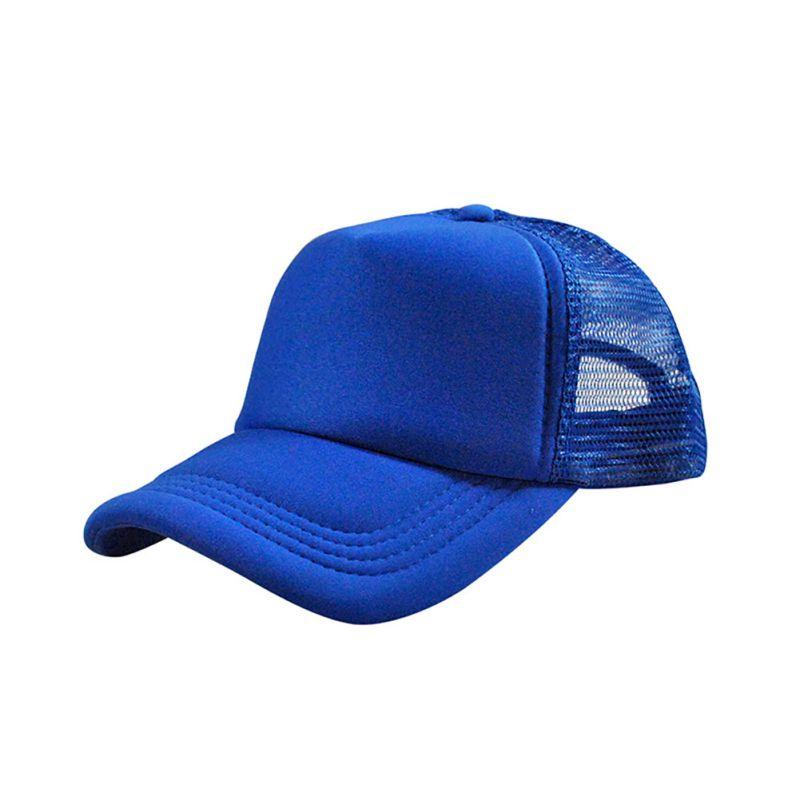 Unisex-Adjustable-Solid-Curved-Cap-Trucker-Casquette-de-baseball-Mesh-Visor-Hat