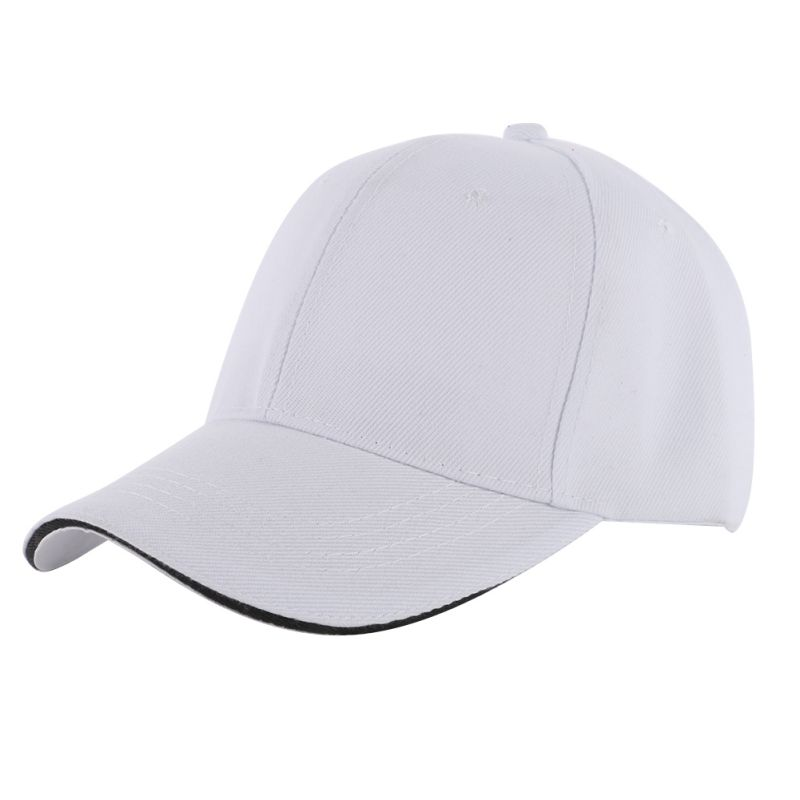 Men Women's Casual Sports Baseball Hat Cap Ball Blank ...