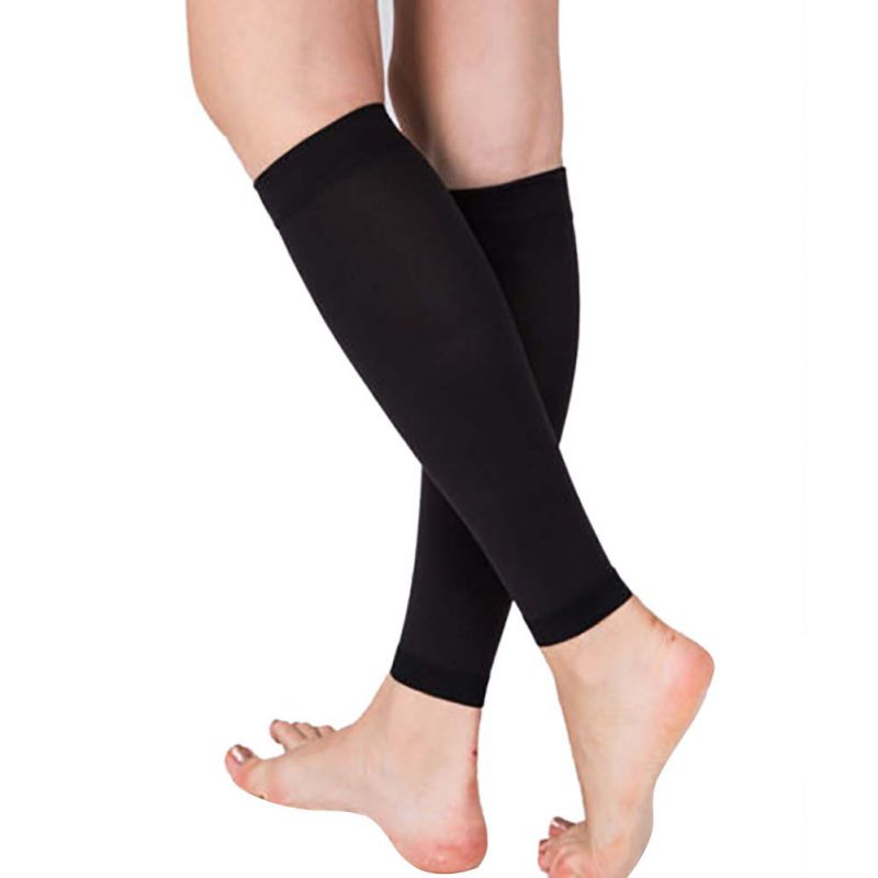 Exercise-Sport-Socks-Pair-Calf-Support-Graduated-Compression-Leg-Sleeve-Outdoor