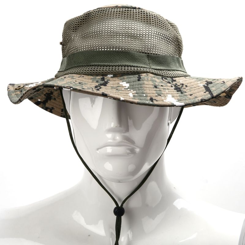 Casual unisex men women boonie hunting fishing outdoor cap for Fishing sun hat