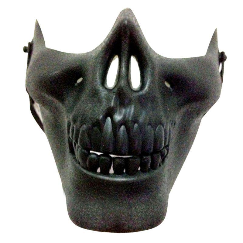 Skull Mask Motorcycle Anti-dust Skeleton Half Face Masks ...