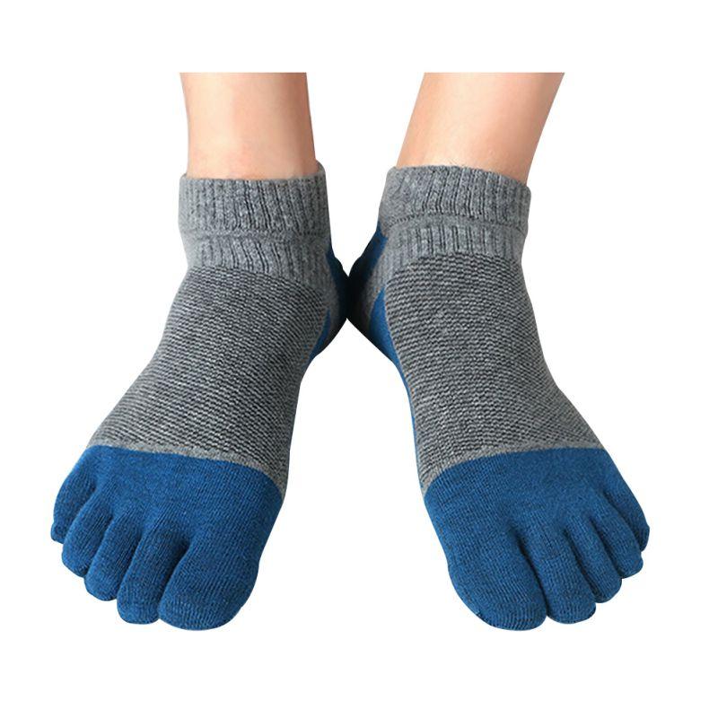 Fashion 1Pair Men Women Socks Sports Five Fingers Toe ...