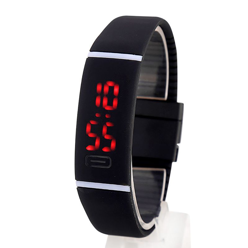 chic silicone rubber led sport bracelet band touch