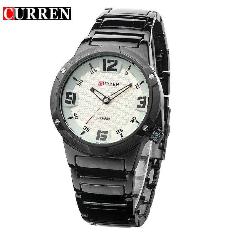 CURREN-Men-Fashion-Military-Stainless-Steel-Analogue-Sport-Quartz-Wrist-Watch