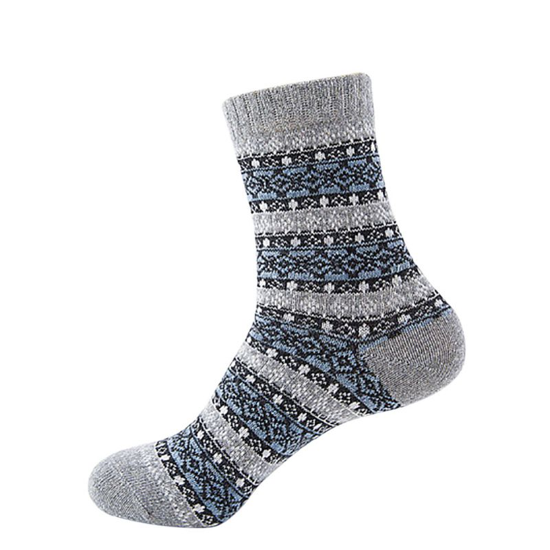 Knitting Pattern Thick Wool Socks : 1 Pairs Unisex Winter Warm Thermal Socks Knit Wool Thick Crochet Cotton Socks...