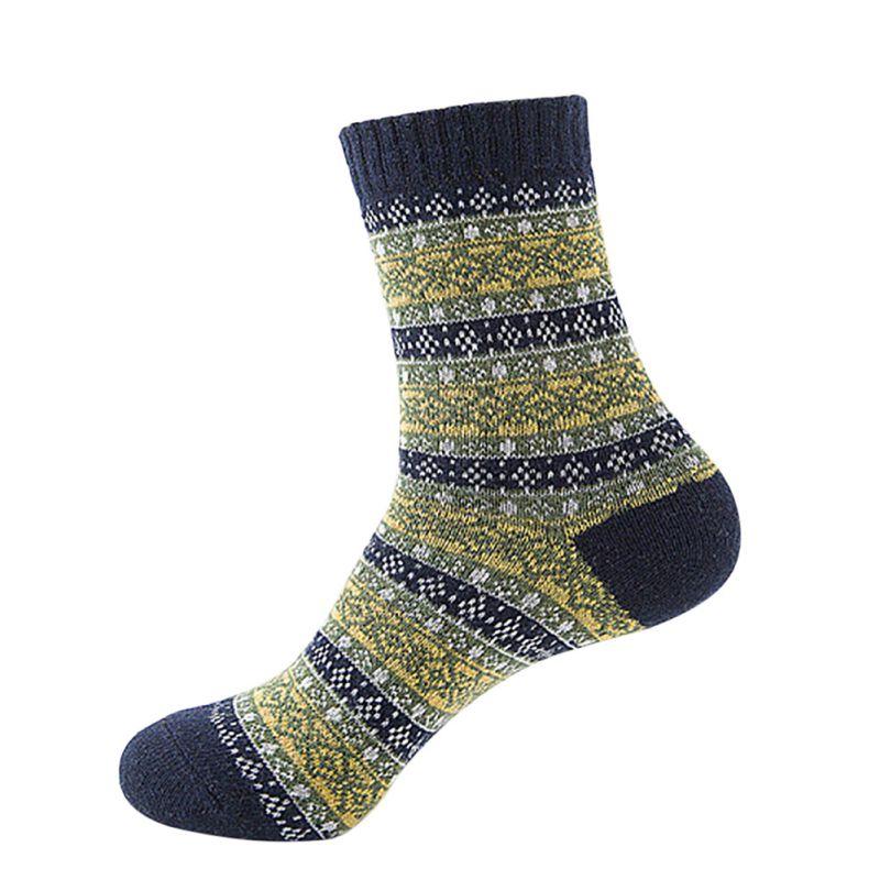 Knitting Pattern Thick Wool Socks : Ethnic THERMAL SOCKS winter warm knit wool socks Womens thick socks Colo...