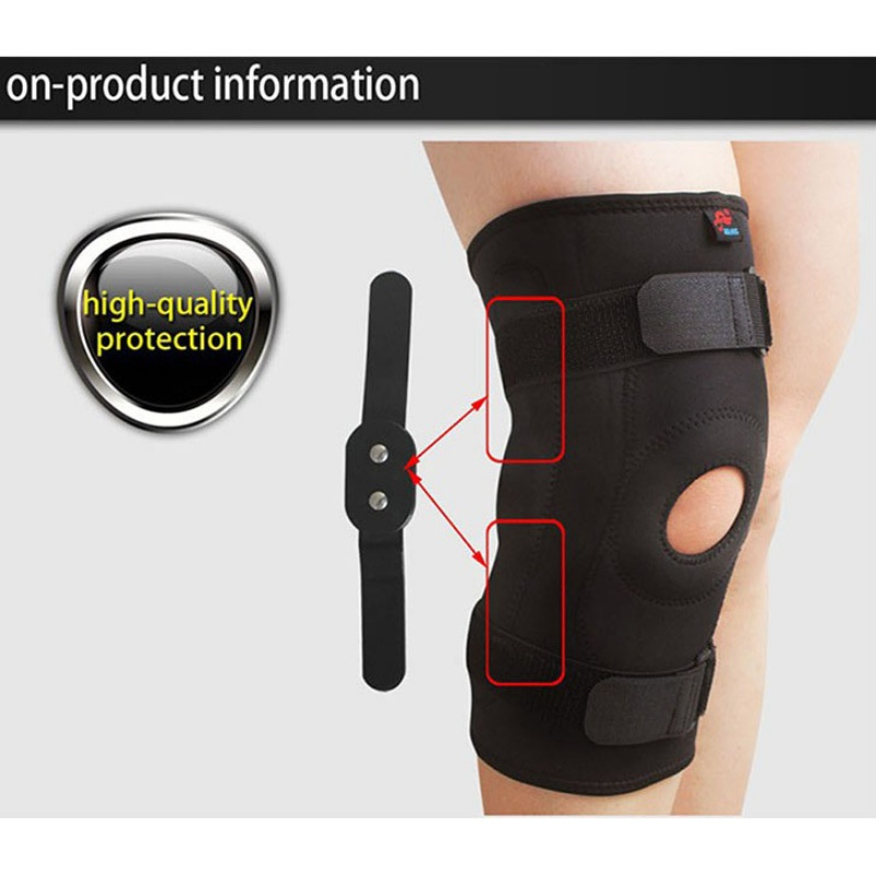 ae6e7781e5 Image is loading Sports-Knee-Support-Brace-Elastic-Compression-Knee-Brace-